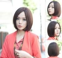 Rainbow cos wig female short brown black bobo wig