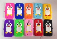 Bulk Wholesale 1000pcs/lot Penguin Silicone Case For Samsung Galaxy S4 i9500,New Arrival