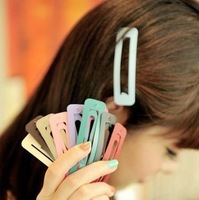 Hair accessory candy paint color super large side-knotted clip bb clip hairpin