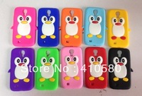 wholesale Silicone case Penguin Case For Samsung Galaxy S4 I9500,wholesale 200 pcs/lot