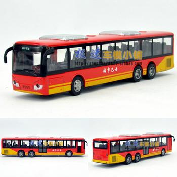 free shipping, Domestic g5 bus acoustooptical WARRIOR alloy car model
