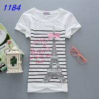 2014 Fashion Good Quality Cotton Short Sleeve Women T Shirt  Lady  Vest Hot Selling T-Shirts