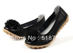 Designer shoes flat-bottomed dance shoes leather women tendon women&#39;s singles shoes leather casual shoesfree shipping by CPAM(China (Mainland))