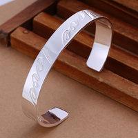 B014 Hot Sell! Wholesale 925 silver bangle bracelet, 925 silver fashion jewelry, Love Bangle