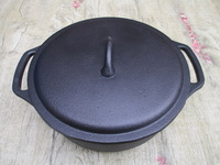 Cast iron Dutch Oven, non-stick casserole,pot flat bottom, pot electromagnetic furnace, dia 25cm