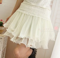2013 spring short skirt gauze skirt basic skirt bust skirt women's -Free Shipping