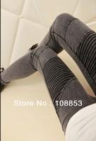 2013 Hot Fashion Denim Women Skinny Washing Water Patchwork Jeans Pants Lady Trousers Denim Leggings Free Shipping CMX-0009