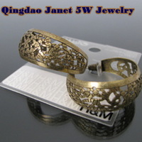 CPAP free shipping wholesale retail Classic vintage gold plating  filigree round hoop earrings