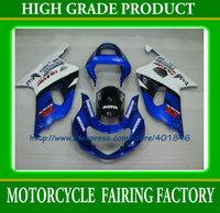 ABS Plastic bodywork set GSXR 600 GSXR 750 2001 2002 2003 white/blue bodywork set k1 racing fairings kit ABS SUZUKI