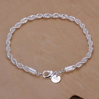 LKNSPCH207,silver bracelets,Hypotenuse bracelet, high quality fashion bangles,Sliver Plated,Free shipping