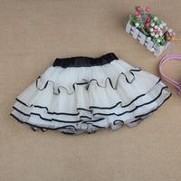 2013 children beige female elegant small gauze skirt