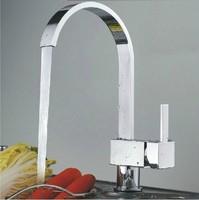 Polished Chromed Kitchen Sink Bathroom Basin Sink Mixer Tap Swivel Faucet  FKK-002