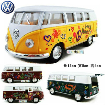 Soft world 4 kinsmart classic volkswagen bus doodle alloy car model