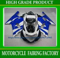 Custom ABS white/blue plastic bodywork set GSXR 600 GSXR 750 2001 2002 2003 racing fairings kit ABS k1 SUZUKI