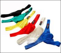 2014  FREE SHIPPING AND HOT SLAE Male panties cocksox u 100% cotton fashion bags male thong t