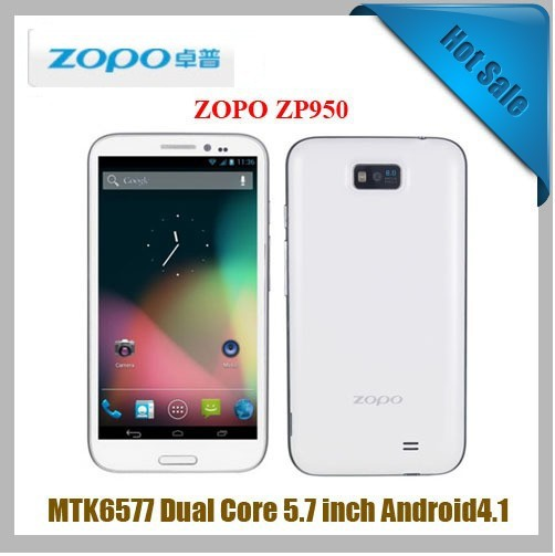 "Leader Max ZOPO ZP950 1280*720 5.7"" HD screen 1080P 16PCS even pat 1G/4G Dual Core mtk6577 Android 4.1 8MP/2MP Freeshipping!(China (Mainland))"