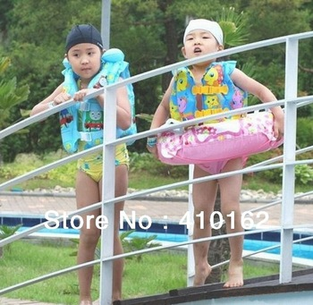 Free shipping Intex Children inflatable life jacket + inflatable pump life preserver swim ring children's inflatable swimming