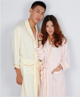 The Bamboo thin honeycomb bathrobe/pajamas and nightgown /soft &antibacterial For couples  Free shipping
