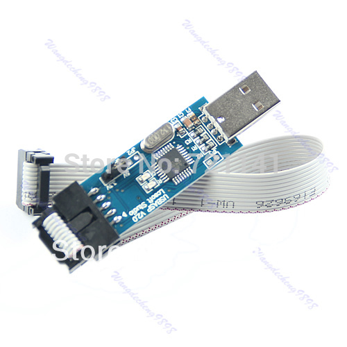 Free Shipping USB ISP Programmer For ATMEL AVR ATMega ATTiny 51 Development Board(China (Mainland))