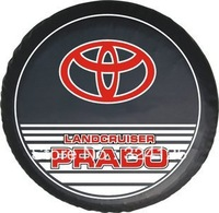 """TOYOTA PRADO Direct Alihot PU Off-road vehicles spare tire cover 15"""" 16"""" 17"""" PVC wheel cover Free shipping"""