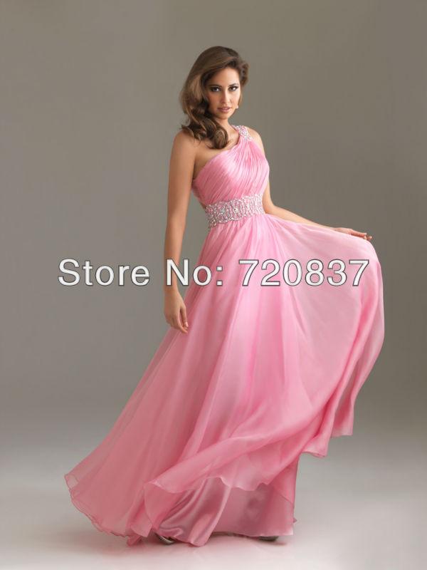 vestidos color rosa baby