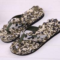 Slippers summer platform flip the bottom massage military Camouflage flip flops sandals high quality wear-resistant slippers