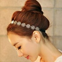 Sweet gentlewomen hair accessory cutout rose hair band hair maker fashion vintage hair accessory