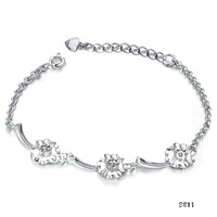 10PCS/LOT!!!Free Shipping!SY811!Edition Bracelet Wholesale Fashion Rhodium Ms. Bracelet JEWELRY