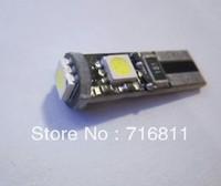 Free Shipping Car ERROR FREE CANBUS 5W T10 5050 LED SIDE LIGHT Interior Light BULB 3SMD 10pcs/lot