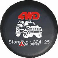 "RAV4/PRADO direct Alihot MITSUBISHI PU spare tire cover 14"" 15"" 16"" 17"" PVC wheel cover protect from UV&dust Free shipping"