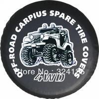 "RAV4/PRADO Direct Alihot PU Off-road vehicles pattern spare tire cover 15"" 16"" 17"" PVC wheel cover Free shipping"