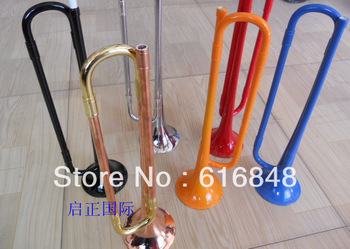 Wholesale children's plastic rubber trumpet A variety of color can choose