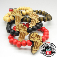 2013 new style bling top quality Africa map good wood hiphop wood bracelet wool accessories nyc