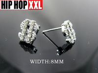 2013 new style Small earring hiphop dollar stud earring earrings hip hop bling