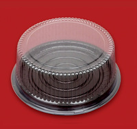 Plastic brown cake boxes  8inch