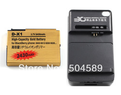 High Capacity Battery D-X1 for BlackBerry Curve 8900 9630 + Universal Charger(China (Mainland))