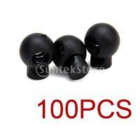 Free Shipping 100 x Black Ball Cord Locks Toggles Round Cordlocks