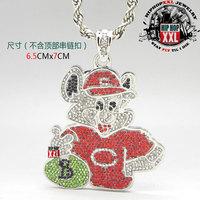Purse bear  bling pendant hiphop necklace pendant hiphop 2013 new reach
