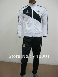 3 Colors 12/13 best quality Real Madrid soccer jacket, football suit, soccer training suit,champions league sport coat(China (Mainland))