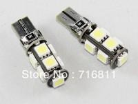 Free Shipping 10pcs/lot Car ERROR FREE CANBUS 5W T10 5050 LED SIDE LIGHT Interior Light BULB 9SMD