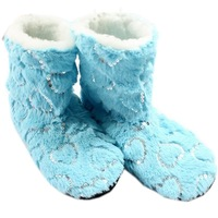 FREE SHIPPING Hot-selling  women's boots home shoes slip-resistant floor socks  1 pair Ladies Soft Shining Slippers Foot Warmer
