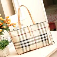 Free Shipping 2013 new classic British style the Scottish tartan Pack pillows handbag   B033