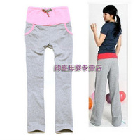 2013 spring and summer maternity clothing maternity sports pants trousers maternity pants belly pants 100% cotton comfortable
