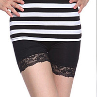 New Fashion knitting LG-008 Shorts women 2013 sweet lace short pants slim 2 Colors FREE SHIPPING 1PC/LOT
