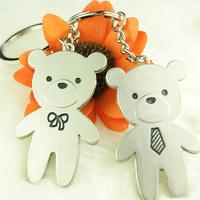 Bear couple key chain large size couple key chain souvenir engraving logo