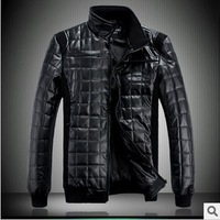 Thin coat winter men's jacket leather jackets men sport suit brand cultivate one's morality favors joining together D126