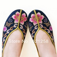 Free shipping, 2013 spring/summer Chinese traditional cotton shoes, silk embroidered multi-layered sole shoes,