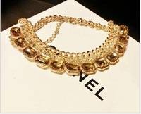 Vintage crystal clavicle necklace  Free shipping