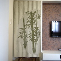 Free Shipping Chinese Bamboo Design Door Curtain Japanese Noren D2942