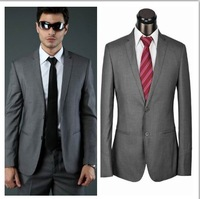 2014 Free Shipping High Quality Discount Designer Mens Suits Business Suits For Men
